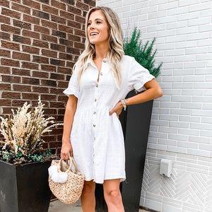Dresses & Skirts - Linen Button Front Dress